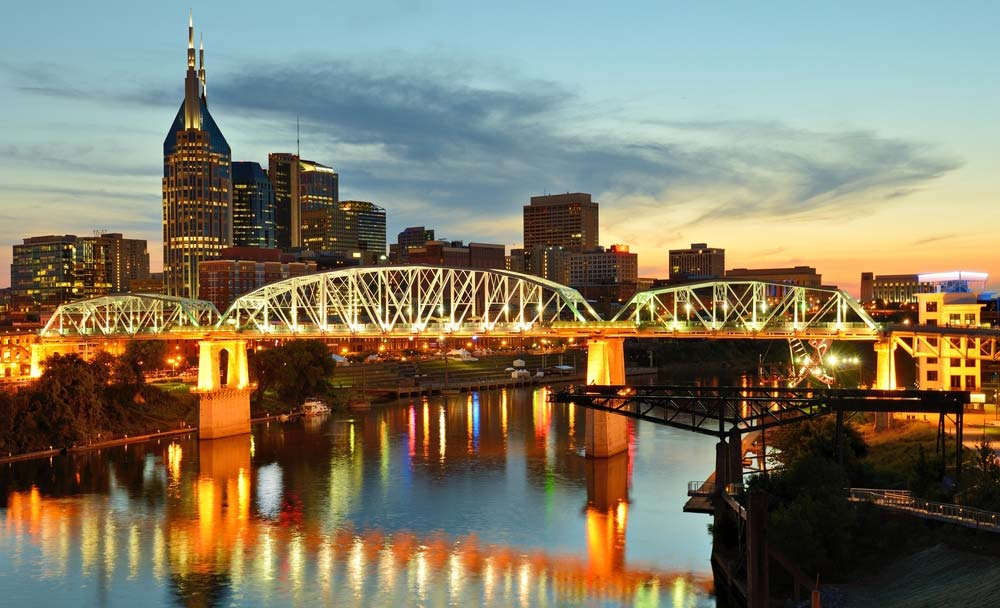 The beautiful Nashville skyline